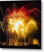 Fireworks At Philadelphia Museum Of Art Metal Print