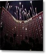Fireworks At Treasure Island Metal Print