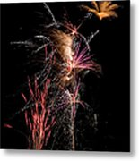 Fireworks Metal Print by Cindy Singleton