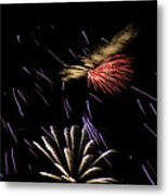 Fireworks Fun 2 Metal Print