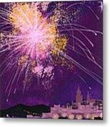 Fireworks In Malta Metal Print
