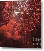 Fireworks Metal Print by Juan  Silva