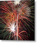 Fireworks Light Up The Night Metal Print by Garry Gay