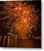 Fireworks London Metal Print