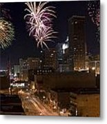 Fireworks Over The City Metal Print