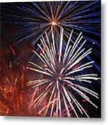 Fireworks Rectangle Metal Print