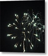Fireworks With Moon II Fm2p Metal Print