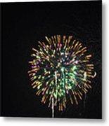 Fireworks With Moon IIi Fm3p Metal Print
