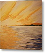 Firey Sunset Metal Print
