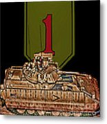 First Infantry Division Bradley Fighting Vehicle Metal Print