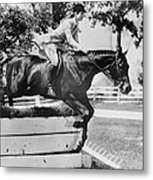 First Lady Jacqueline Kennedy, Riding Metal Print by Everett