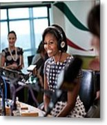 First Lady Michelle Obama Does An Metal Print by Everett