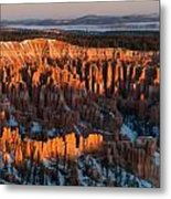 First Light At Bryce Canyon Metal Print