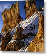 First Snow At Bryce Canyon Metal Print