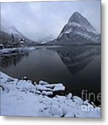 First Snow At Grinnell Metal Print