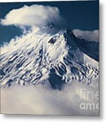 First Snow At Mt St Helens Metal Print