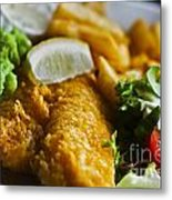 Fish And Chips Metal Print