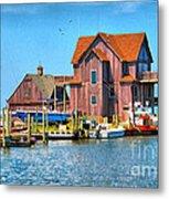 Fish House On The Island Metal Print
