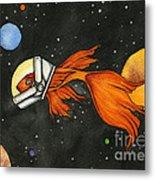 Fish In Space Metal Print