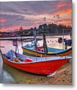 Fisherman Boats Metal Print
