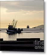 Fisherman Home Returning To Port From The Inside Passage Vancouver Bc Canada Metal Print by Andy Smy