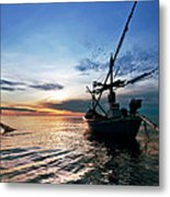 Fisherman Life Huahin Thailand Metal Print by Arthit Somsakul