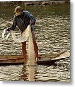 Fisherman Mekong 2 Metal Print