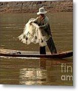 Fisherman Mekong 3 Metal Print
