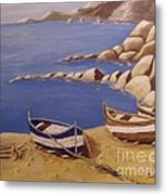 Fisherman's Boats Metal Print by Debra Piro