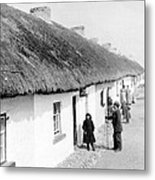 Fishermans Cottages In Claddagh Ireland Metal Print