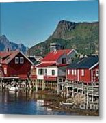 Fishermen's Houses Metal Print