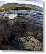 Fisheye Seascape Metal Print
