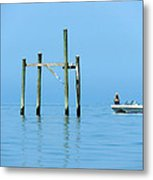 Fishing At The Bird Rack Metal Print