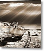 Fishing Boat Graveyard 9 Metal Print