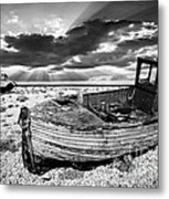 Fishing Boat Graveyard Metal Print