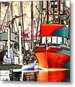 Fishing Boat In Harbor Metal Print