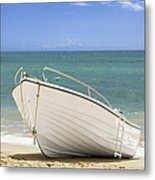 Fishing Boat On The Beach Metal Print