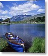 Fishing Boat On Upper Lake, Killarney Metal Print