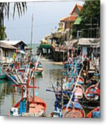 Fishing Boats Metal Print by Adrian Evans