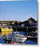 Fishing Boats At A Harbor, Slade Metal Print