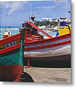 Fishing Boats At Arniston Metal Print