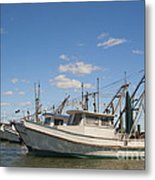 Fishing Boats At The Gulf Of Mexico Metal Print