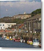 Fishing Boats Hayle Harbour Metal Print