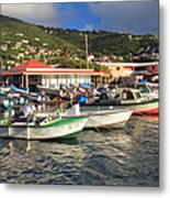 Fishing Boats In Frenchtown Metal Print