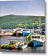 Fishing Boats In Newfoundland Metal Print