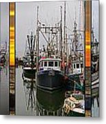 Fishing Boats In Steveston Group Photo Metal Print