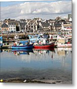 Fishing Boats In The Harbor Metal Print