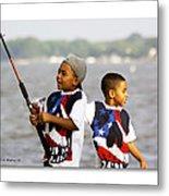 Fishing Brothers Metal Print