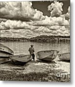 Fishing By The Boats 2 Metal Print by Jack Paolini