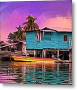 Fishing Camp Twilight Metal Print